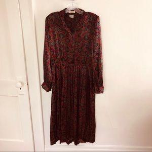 Talbots Paisley Midi Dress